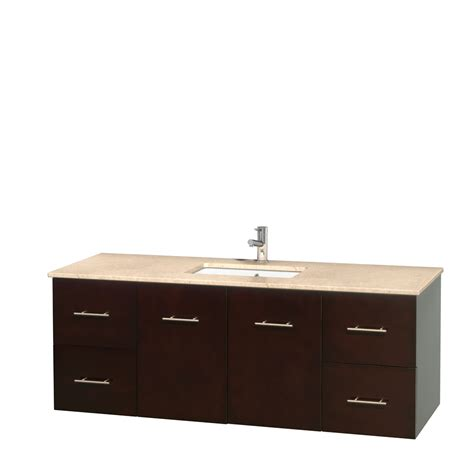 60 in bathroom vanity wyndham collection wcvw00960sesivunsmxx centra 60 inch