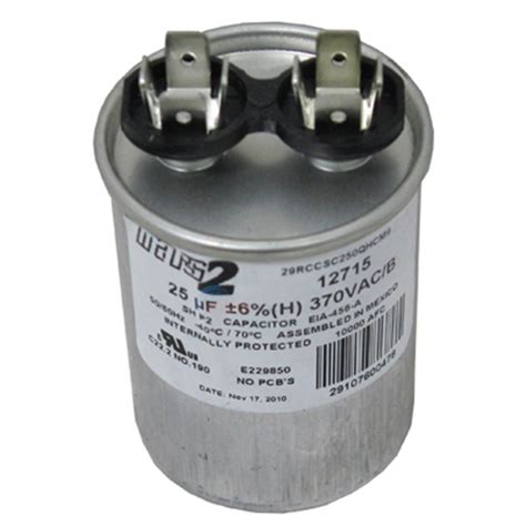 replacement of capacitor ao smith replacement capacitor 25mfd 370v 628318 307