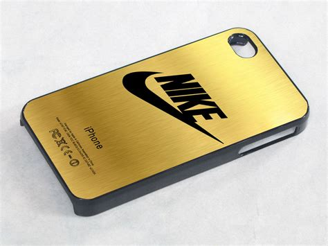 Iphone 4 4s Hardcase C Nel nike logo gold texture iphone 4 iphone 4s
