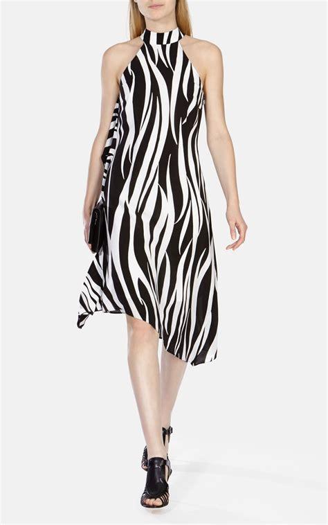 zebra design clothes karen millen zebra print asymmetric midi dress lyst
