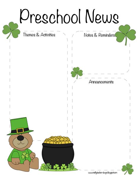 the crafty teacher preschool st patrick s day march