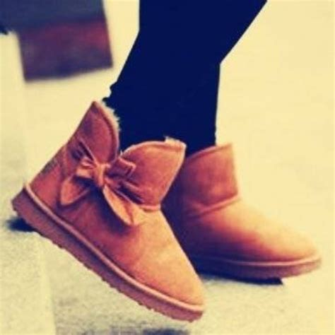 boots with bows shoes ugg boots ugg boots boots ankle boots bows