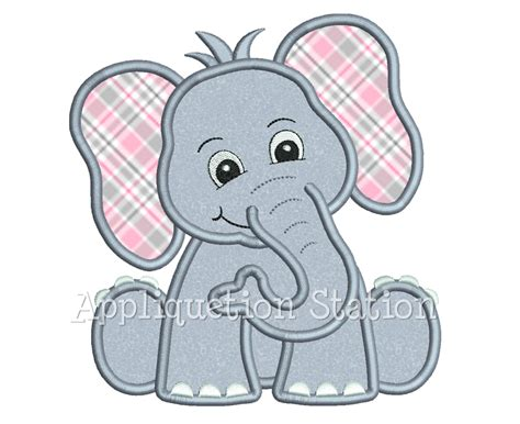 free applique design zoo baby elephant applique machine embroidery design jungle
