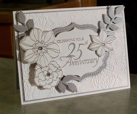 Handmade 25th Anniversary Cards - handmade 25th anniversary card 5 quot x 6 5 quot stin up