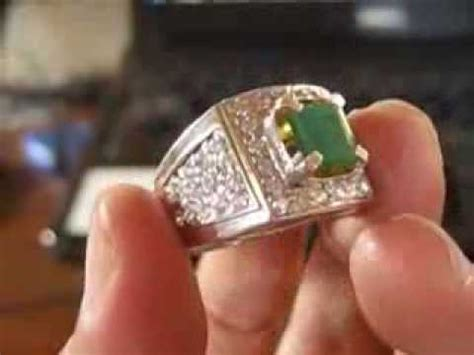 Cincin Pria Lapis Emas Batu Zambrud cincin pria batu zamrud 1 51 carats