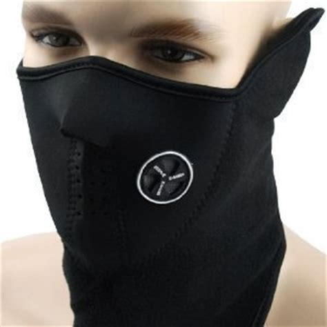 Amazon.com: Neoprene Black Thermal Fleece Half Face Mask