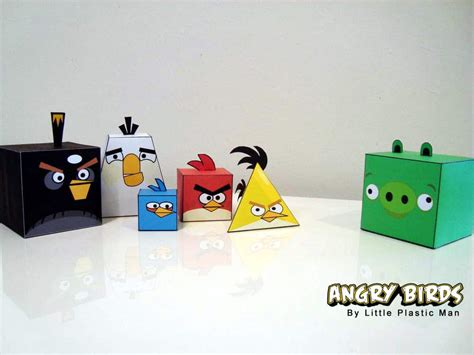 Bird Paper Craft - angry birds papercraft fold feather and fight bit rebels