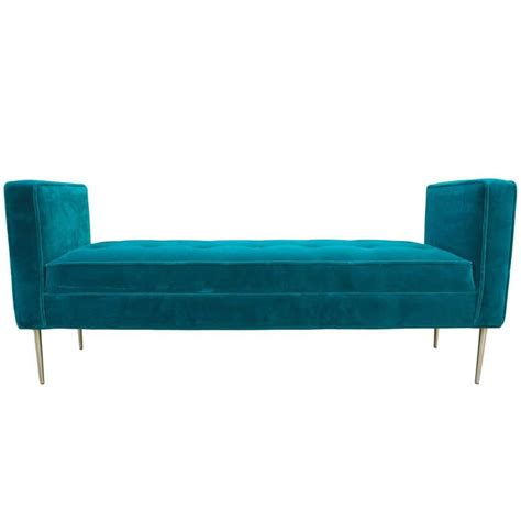 turquoise leather bench modern tufted armed bench in teal turquoise velvet with
