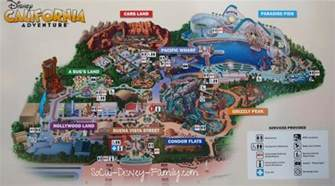 map of california adventure map of california adventure park disney california
