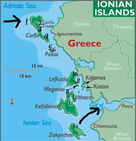 ionian sea map ionian sea islands www pixshark images galleries