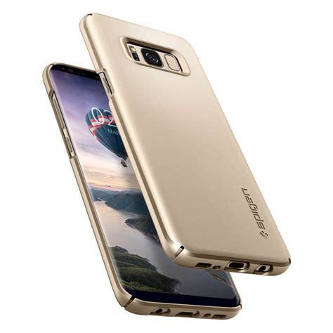 Spigen Galaxy S8 Thin Fit Maple Gold spigen 174 thin fit 565cs21622 samsung galaxy s8 gold