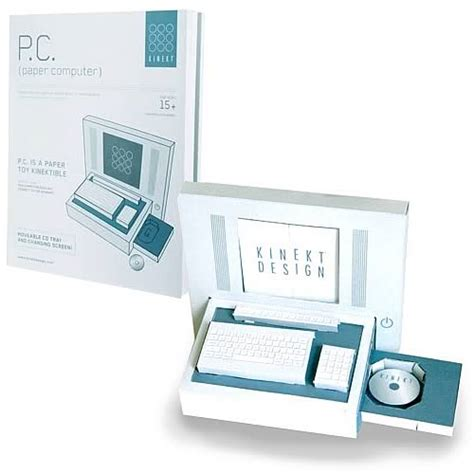Laptop Papercraft - p c paper computer novelty paper craft kit