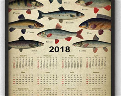 Calendar 2018 Fish Freshwater Fish Etsy