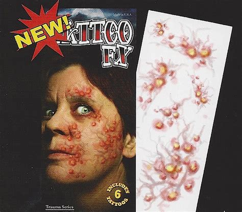 tattoo infection video fake tat971 temporary tattoos fx zombie tattoos diseased
