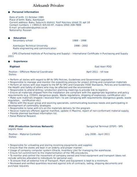 deployment specialist sle resume sle resume for warehouse 28 images warehouse manager