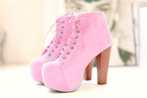 shoes platform lace up boots pink shoes baby pink