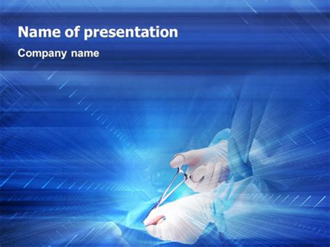 Surgical Forceps Powerpoint Template Backgrounds 01930 Surgery Ppt Templates Free