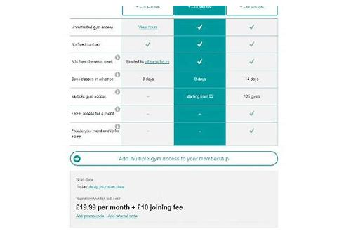 pure gym deals 2018