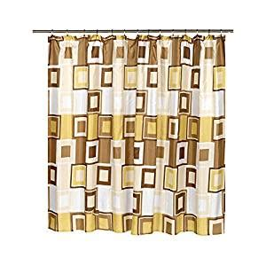 108 inch shower curtain contempo tan and brown 108 inch extra wide fabric shower