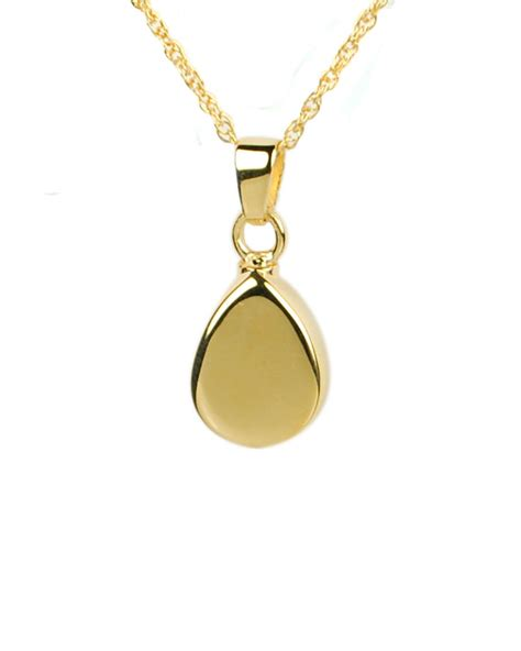 gold teardrop pendant memorial urns