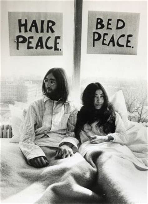 bed peace hair peace bed peace iconic photography pinterest beds peace and john lennon