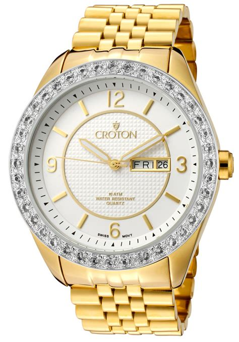 croton watches s two tone stainless steel cn307279ylsl