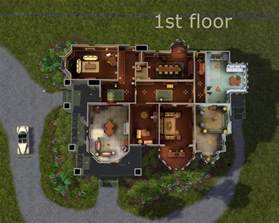 Mansion Floor Plans Sims 3 by Mod The Sims Carson Mansion