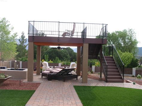 Detached Garage Design build a freestanding view deck to capture the red rock