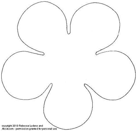 6 petal flower template flower petal pattern cut out www pixshark images