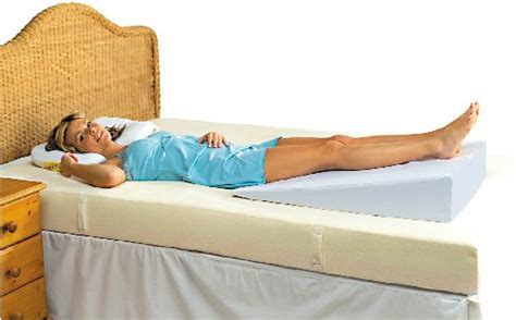 wedge to raise head of bed putnams bed wedge sports supports mobility