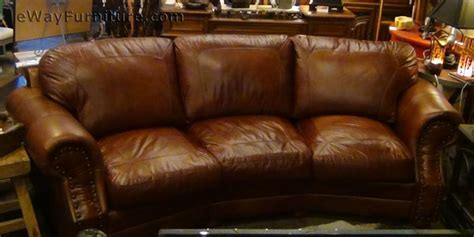 cowboy couch two toned top grain leather cowboy sofa