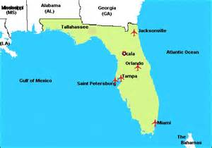 florida map with cities and airports where national beagle club specialty