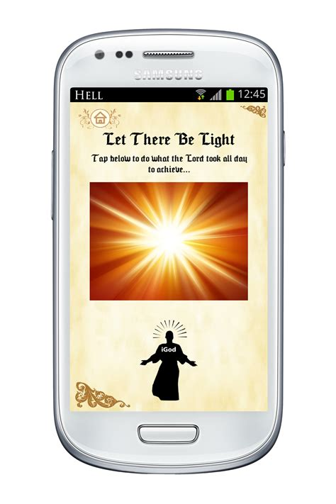 let there be light app samsung controversial bible app revelations