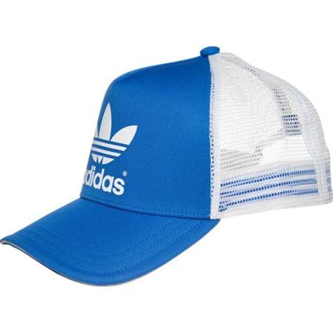 Trucker Z adidas originals ac trucker czapka z daszkiem bluebird white zalando niebieski domodi pl