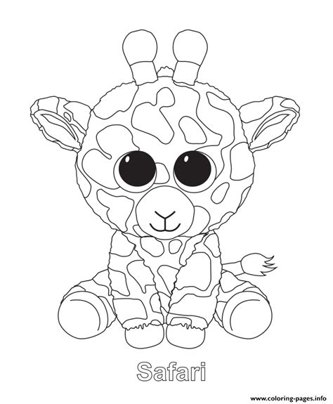 coloring boo safari beanie boo coloring pages printable