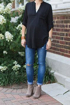 one little momma what i wore embroidered tunic and dark denim peep toe peeps and maternity on pinterest
