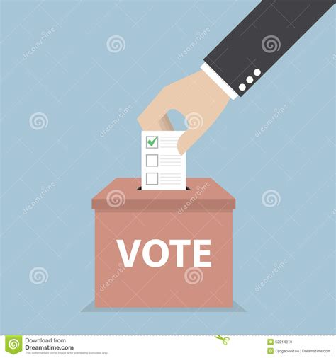 doodle poll confidential businessman putting voting paper in the ballot box