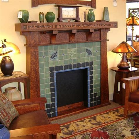 modern bungalow fireplace craftsman mantle and fireplace