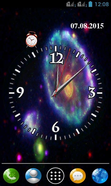 live clock themes software galaxy clock wallpaper free android app android freeware