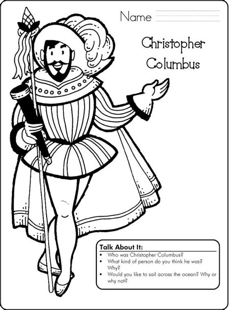 columbus day coloring pages for kids family holiday net