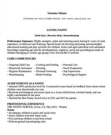 professional nanny resume sle all things you should about nanny resume
