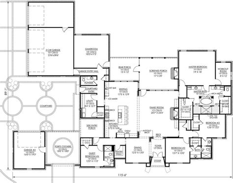 4000 square foot house plans french country style house plans 4000 square foot home