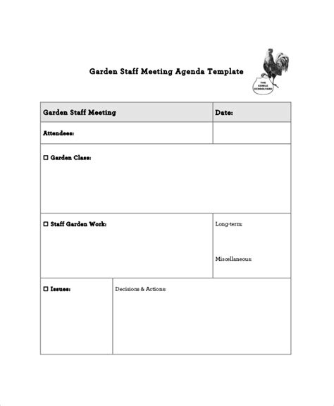 staff meeting agenda template staff meeting agenda template 10 free word pdf