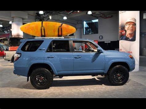 2018 toyota 4runner trd pro in cavalry blue exterior