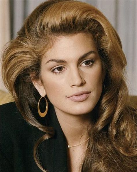 90s supermodels with short hair cindy crawford s iconic hairstyle with swept waves former