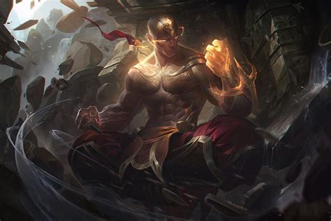 gold wallpaper lol new lee sin skin god fist is shiny golden and can see