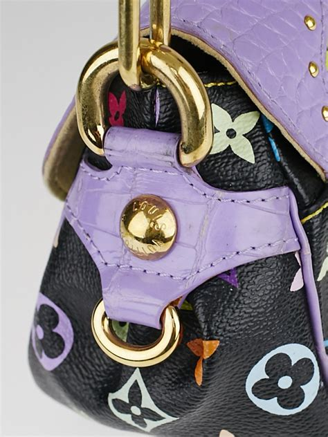 Limited Edition Louis Vuitton Crocodile Marilyn Multicolore Purse by Louis Vuitton Limited Edition Purple Alligator Black