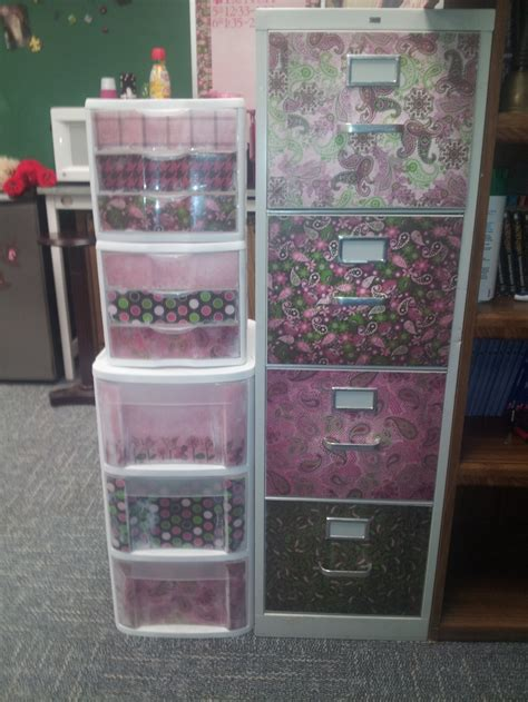 mod podge filing cabinet crafts i can do it
