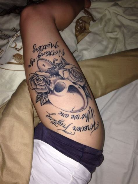 rose tattoo revenge lyrics skull and rose thigh tattoo metallica nothing else