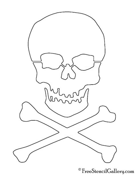 printable skull template skull and crossbones stencil free stencil gallery